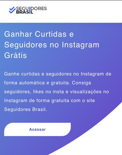 ganhar seguidores gratis seguidores brasil