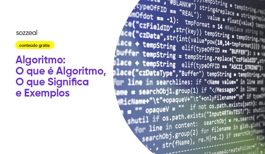 Algoritmo o que é significado